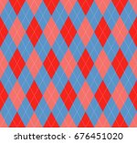 seamless argyle pattern in... | Shutterstock .eps vector #676451020