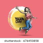 international youth day 12... | Shutterstock .eps vector #676453858