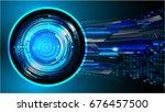 future technology  blue eye... | Shutterstock .eps vector #676457500