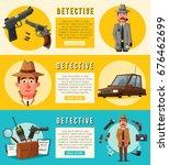 funny detective character....   Shutterstock .eps vector #676462699
