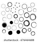hand drawn vector set of... | Shutterstock .eps vector #676464688