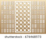 70  vector panels. cutout... | Shutterstock .eps vector #676468573