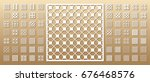 70  vector panels. cutout... | Shutterstock .eps vector #676468576
