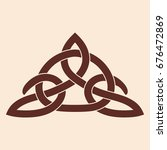 celtic national ornament... | Shutterstock .eps vector #676472869