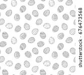 easter eggs seamless pattern in ... | Shutterstock . vector #676473568