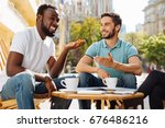 emotional hilarious guy telling ... | Shutterstock . vector #676486216