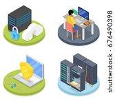 isometric system administrator. ...   Shutterstock .eps vector #676490398