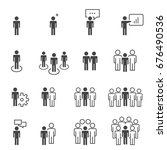 people icons work group team... | Shutterstock .eps vector #676490536