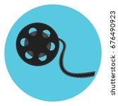 cinematography video bobbin...   Shutterstock .eps vector #676490923
