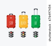 red  green and yellow light... | Shutterstock .eps vector #676497454