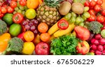 fruits and vegetables. healthy... | Shutterstock . vector #676506229