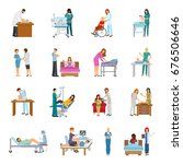 maternity hospital newborn baby ... | Shutterstock .eps vector #676506646