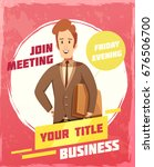 business meeting poster with... | Shutterstock .eps vector #676506700