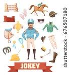 jockey ammunition decorative... | Shutterstock .eps vector #676507180