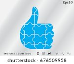 thumbs up puzzle icon  vector...   Shutterstock .eps vector #676509958