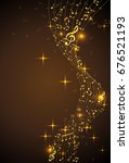 abstract background with gold... | Shutterstock .eps vector #676521193