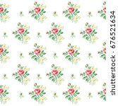 rose pattern in small flower.... | Shutterstock .eps vector #676521634