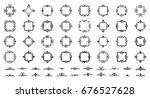 retro rosette and victorian... | Shutterstock . vector #676527628