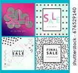 set of sale banners. memphis...   Shutterstock .eps vector #676529140