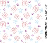 summer seamless pattern with... | Shutterstock .eps vector #676534819