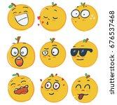 set of emoji emoticon  smile... | Shutterstock .eps vector #676537468
