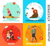 four square icon set with... | Shutterstock .eps vector #676539838