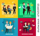 four square business people... | Shutterstock .eps vector #676539910