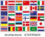 set of flags of different...   Shutterstock .eps vector #676540603
