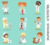Adorable Kids Playing Doctor...