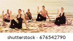group of positive women...   Shutterstock . vector #676542790