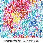 festive rainbow mosaic seamless ... | Shutterstock .eps vector #676544956