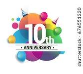 10th years anniversary logo ... | Shutterstock .eps vector #676551220