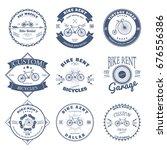 bike rent label and badges... | Shutterstock . vector #676556386