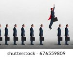 superhero businessman... | Shutterstock . vector #676559809