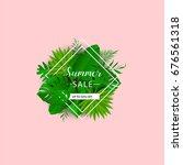summer sale. vector... | Shutterstock .eps vector #676561318