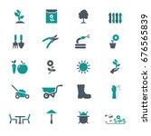 garden icons | Shutterstock .eps vector #676565839