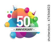 50th years anniversary logo ... | Shutterstock .eps vector #676566823