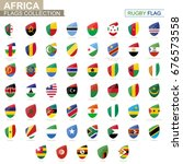 african countries flags... | Shutterstock .eps vector #676573558