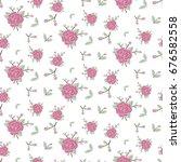 seamless floral pattern rose... | Shutterstock .eps vector #676582558