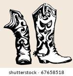 cowboy boots .vector graphic... | Shutterstock .eps vector #67658518