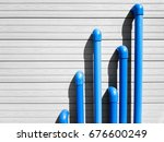 blue pvc pipes emerge from a...   Shutterstock . vector #676600249