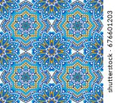 seamless oriental ornamental... | Shutterstock .eps vector #676601203
