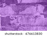 abstract canvas textured purple ... | Shutterstock . vector #676613830