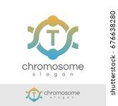 chromosome initial letter t... | Shutterstock .eps vector #676638280
