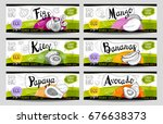 set of colorful stickers in... | Shutterstock .eps vector #676638373