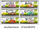 set of colorful stickers ... | Shutterstock .eps vector #676638394