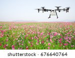 Agriculture Drone Flying On...