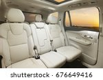 back passenger seats in modern... | Shutterstock . vector #676649416