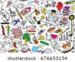 hand drawing doodle element ... | Shutterstock .eps vector #676653154