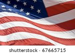 American Flag Waving  In The...